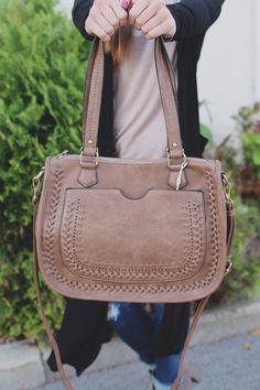 8755f17d06fe Whipstitch Faux Leather Dual Strap Envelop Pocket Bag