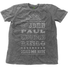 The Beatles Men's Fashion Tee: Mr Kite Wholesale Ref:BEATSWASH01MC