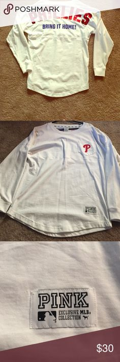 fbfdc574180 Phillies spirit jersey Sequin PHILLIES. Has an oversized fit. Worn once.  Perfect condition