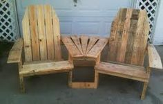 These/this is made from pallets but I'm thinking recycled barn wood would be even better to use. =)
