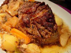 Carne assada com maçã e vinho do Porto