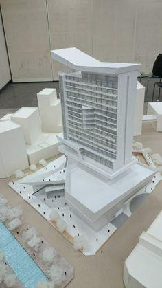 Form Architecture, Office Building Architecture, Futuristic Architecture, Building Design, Urban Design Concept, Building Concept, Arch Model, Villa, Construction