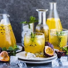 Passion Fruit Champagne. All kinds of summer, festive deliciousness.