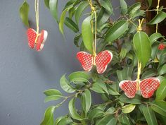 7 Ceramic Gift Tags / BUTTERFLY Birthday Favors by CERAMICSbyVITA, $15.00
