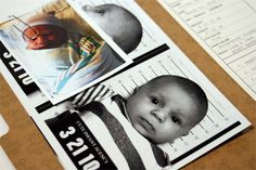 CIA (Cute Infant Agency) | Criminal File Debossed Birth Announcements