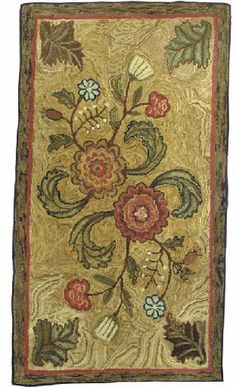 AN AMERICAN HOOKED RUG