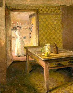 Grant, Duncan (British, 1885-1978) - The Kitchen @@@@.....http://www.pinterest.com/mashrie/art5-town-house-people/