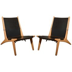 "Pair of Swedish 1954 ""Hunting Chair"" model 204 by Unar  Osten Kristansson 