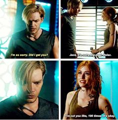 """""""On Infernal Ground"""" - Jace and Clary Malec, Clary Et Jace, Shadowhunters Season 3, Cassie Clare, Dominic Sherwood, Cassandra Clare Books, Jace Wayland, Shadowhunters The Mortal Instruments, Jamie Campbell Bower"""