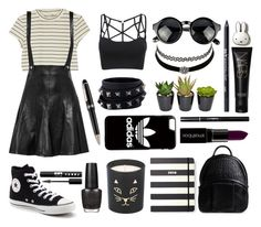 """Halsey style"" by kisskatabogi ❤ liked on Polyvore featuring Monki, Sandro, Converse, Alexander Wang, Charlotte Russe, Valentino, Urban Decay, NARS Cosmetics, Kate Spade and Montblanc"