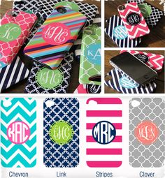 $44 Monogrammed Phone Case - Choose From 4 Designs! at VeryJane.com! Chevron pleez! Once i get an iphone..