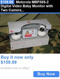 baby kid stuff: Motorola Mbp38s-2 Digital Video Baby Monitor With Two Cameras BUY IT NOW ONLY: $159.99