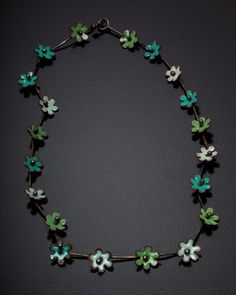 Necklace Flowers in Greens.jpg by Kirsten Denbow