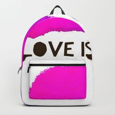 Enjoyed designing this backpack in my Society6 Gallery. I had to layout my art with the template and match the words and design and colors. Great fun. Great bag, too.