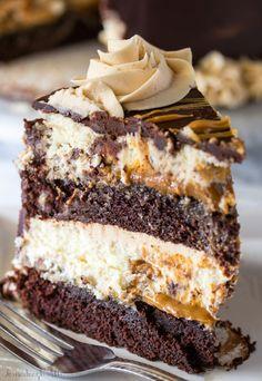 Copycat Cheesecake Factory Reese's Peanut Butter Chocolate Cake Cheesecake - Tornadough Alli