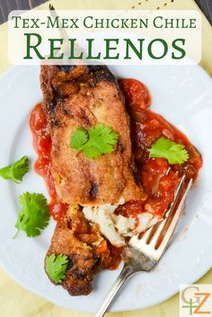 Tex-Mex Chicken Chile Rellenos | Garlic + Zest