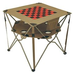 Camping Furniture 16038: Alps Mountaineering Eclipse Table Khaki With Checkerboard One Size BUY IT NOW ONLY: $31.49