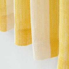 Line Up Striped Linen Curtains (Yellow)   The Land of Nod
