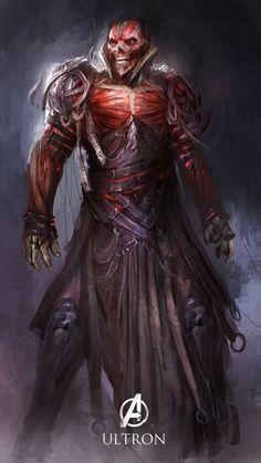 Dark Ultron Fan Art by Daniel Kamarudin #Marvel #AvengersAoU Remerbers SNK