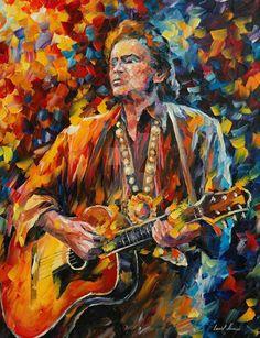 Leonid Afremov - Johnny Cash