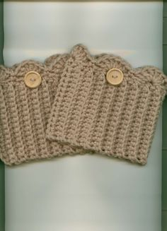 Crocheted Boot Cuffs/Toppers Skate Cuffs/Toppers TAUPE by Kountry, $13.00