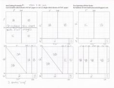 Templates & Ideas for creating cards using a 6x6 pad of paper (From #OperationWriteHome)
