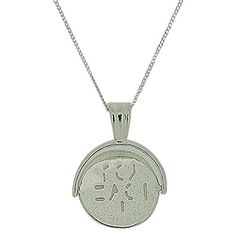 """TOC Sterling Silver """"I Love You"""" 20mm Spinner Pendant Necklace 18"""" I Love You, My Love, Dog Tag Necklace, 18th, Pendant Necklace, Sterling Silver, Gifts, Stuff To Buy, Jewelry"""