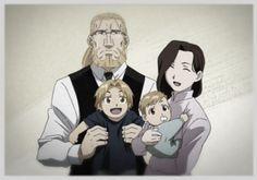 Family: Van Hohenheim, Trisha Elric, Edward Elric, Alphonse Elric
