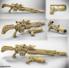 warhammer vindicare assassin gun by Pabel Art on ArtStation. Arm Cannon, Future Weapons, Warhammer 40k Art, Tac Gear, Weapon Concept Art, Space Marine, Marvel, Bored Panda, Assassin