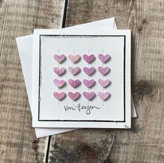 """Bettina Reisinger on Instagram: """"Karten mit 💜 für einen wohltätigen Zweck werden gerade bei uns im Team gefertigt... Hier mal ein schlichtes Kärtchen zum """"eingrooven"""" mit…"""" Ice Tray, Silicone Molds, Instagram"""