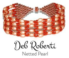 Netted Pearl_16 Pearl Bracelet, Pearl Necklace, Beaded Bracelets, Matte Pink, Beading Needles, Beading Tutorials, Bracelet Patterns, Round Beads, Seed Beads