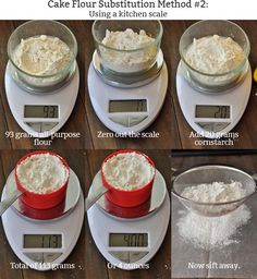 How to Make Cake Flour Use scale method. Sift 5 times.