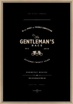 simple and masculine. The Gentleman's Race / a striking poster by Caleb Owen Everitt for Austin's Gentleman's Race Design Font Design, Web Design, Layout Design, Branding Design, Design Packaging, Branding Ideas, Identity Branding, Type Design, Corporate Design