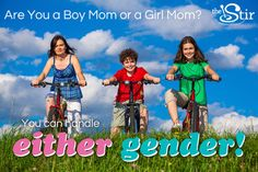 I took Quiz: Are You a Boy Mom or a Girl Mom?and got Either gender. Take the quiz on The Stir to see what you get!