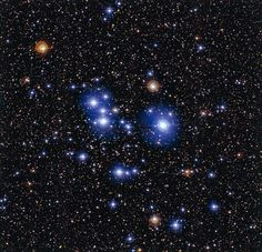 ESO Views the Blue Stars of Messier 47 12/24/14 This ESO image shows star cluster Messier 47, which is located roughly 1,600 light-years from Earth.