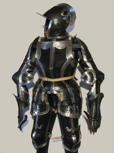 schwarz-weißer Trabharnisch norddeutsch um 1550 - Objekt Nr. 950 - Jürgen H. Fricker Historische Waffen