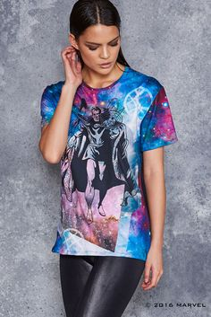 Many can be the forms – and many the faces of the man called Doctor Strange! The BFT is cut to be unisex, and we recommend both guys and girls stick to your usu Marvel Fashion, Daughters Day, Black Milk Clothing, Little Designs, Doctor Strange, Guys And Girls, Printed Leggings, Shirt Jacket, Clothing Items