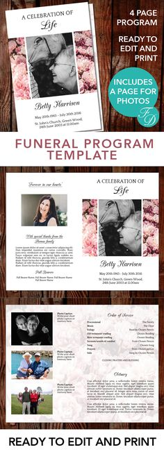 The Funeral-Memorial Program Blog Printable Funeral Obituary - death announcement templates