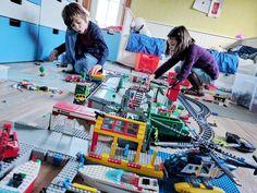 Construction d'une grand ville en LEGO
