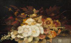 Bloemstilleven  Doek 50,7 x 81,3 cm Mesdag-van Houten, Sina (Sientje)  (1834-1909)