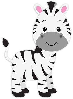 Fantastic drawing of a nice and smiling young zebra. Animals have always fascinated children Safari Party, Safari Theme, Jungle Theme, Party Animals, Safari Animals, Animal Party, Safari Png, Mickey Safari, Decoration Creche