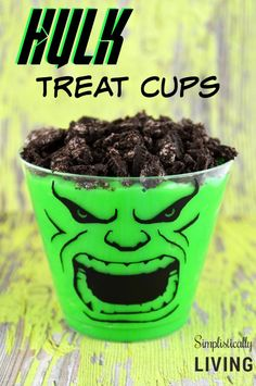 Hulk Treat Cups Simplistically Living