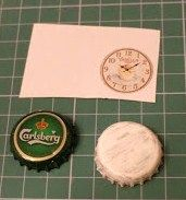 how to: shabby chic bottlecap clock