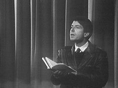 Young Leonard Cohen Reads His Poetry in 1966 (Before His Days as a Musician Began)