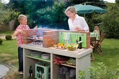 Costruirsi il barbecue, il basamento