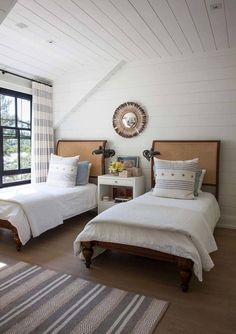 Indian Home Interior Home Tour: Anne Hepfer& Rustic Modern Lake House Coastal Bedrooms, Guest Bedrooms, Lake House Bedrooms, Home Bedroom, Bedroom Decor, Bedroom Ideas, Baby Bedroom, Master Bedroom, Bedroom Beach