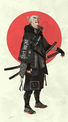 modern samurai white guy