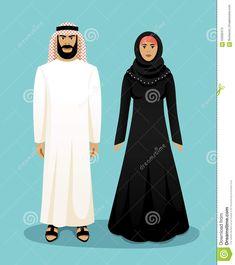 https://thumbs.dreamstime.com/z/traditionelle-arabische-kleidung-mann-und-frau-63583473.jpg