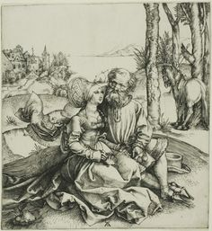 The Ill-Assorted Couple by Albrecht Dürer,c. 1496 Reinette: German Style from 1468-1588
