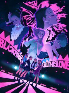 Black Pink Yes Please – BlackPink, the greatest Kpop girl group ever! Blackpink Poster, Film Manga, Kpop Posters, Black Pink Kpop, Blackpink Memes, Kpop Drawings, Blackpink Photos, Blackpink Fashion, Fan Art